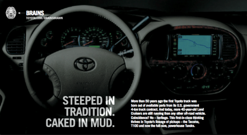 toyota :: direct mail :: inside spread 2, left